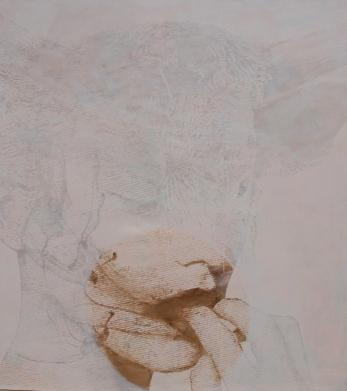 maenad, dionisis christofilogiannis, 2010, oil on canvas, 200x180cm