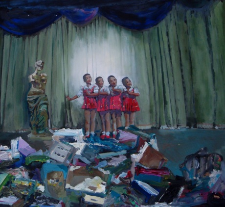 Chinese chorus, 54,5x49,5cm, 2013, oil on canvas