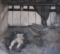 Foxhole intervention, oil on canvas,180x200cm, 2013