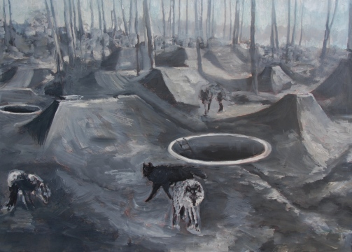 Foxhole Interventions, 50x70cm, oil on canvas, 2013