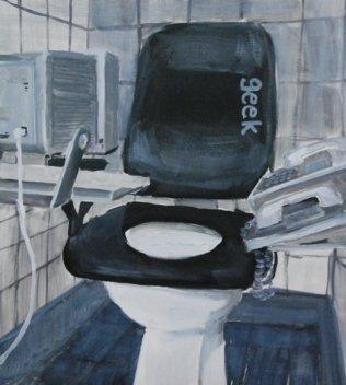 geek 45x50cm oil on canvas