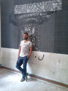 Ionic Lace Installation, wallpaper 338x225cm