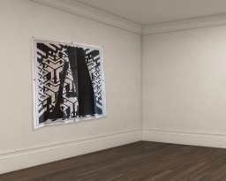 A lace pattern, 100x100cm paper, Dionisis Christofilogiannis, 2014